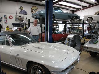 Dan and vettes in shop